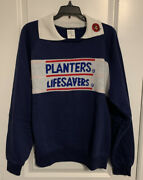 Vintage 80s Life Savers By Planters Peanuts Rare Sweater Deadstock Size Large H