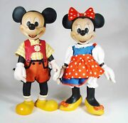 Anri Disney Original Woodcarvings Mickey And Minnie Mouse., Limited Ed.