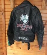 Street Legal Black Leather Motorcycle Jacket Lined 38 Nuke And The Living Dead