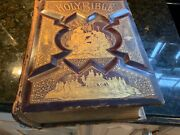 1894 Antique Holy Bible,a. J. Holman And Co.usa, Colored Wood And Steel Ingravings.