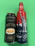 Guinness Beer New York Empty 14.9oz Can And Budweiser New York Empty 16oz Bottle