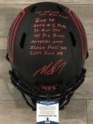 Mike Vick Signed Autographed Speed Eclipse Replica Helmet Beckett Bas Coa Stat