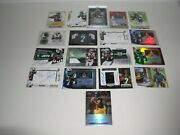 2013 Geno Smith Rookie Rc Card Lot Of 18 Autograph And Autograph Fabric Cards