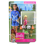 Barbie You Can Be Anything Soccer Coach Brunette Doll Set New In Stock