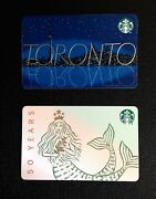 🇨🇦 Canada Starbucks Toronto And 50 Years Gift Card -- Lot Of 2 Pcs. -- New