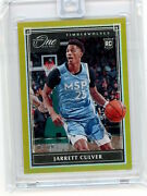 2019/20 Panini One And One Gold Rookie 109 Jarret Culver 04/10