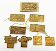 Antique Lot Of 9 Pc Price Lucien Piccard Wrist Watch Tags Seashark Prop D327