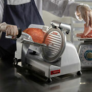 New 9 Commercial Manual Gravity Feed Electric Countertop Meat Slicer, 1/4 Hp