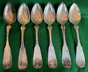 S51 Coin Silver S Chapin Northampton, Ma Table Soup Serving Spoon Ca. 1830