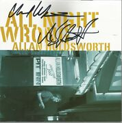 All Night Wrong By Allan Holdsworth Cd, 2002,favored Nation Original Signed