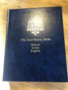 The Interlinear Bible Hebrew-greek-english Complete From Genesis To Revelation