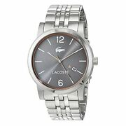 Lacoste Metro Stainless-steel 2010927 Grey Dial Menand039s 42-mm Quartz Watch