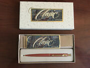 Parker Lady Classic Ballpoint Pen Coral And Gold And Pouch New In Box