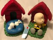 Westland Collectibles Peanuts Charlie Brown And Snoopy Bookend Set Mint In Box
