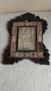 Antique Old Icon Holy Grecorius Angels Plates Mother Of Pearl