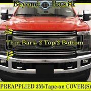 2017 2018 2019 Ford F250 Xlt And Xl Chrome Grille Grill Insert Covers Overlay 4pc