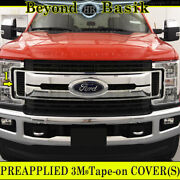 2017 2018 2019 Ford F250xl And Xlt Only Chrome Grille Grill Center Cover Overlay
