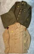 Original Wwii Named Uniform Blouse Shirt And Pants 34th Division