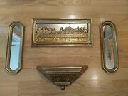 Vintage Home Interiors Homco Mirrored The Last Supper Wall Plaque Mirrors/shelf