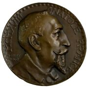 Bronze Medal Anatole France By Henry Nocq 1918 France Nr 426