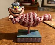 Walt Disney Traditions Jim Shore Grinning Cheshire Cat Figurine Statue Floating