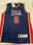 Michael Jordan Hand Signed Olympic Basketball Jersey - Global Authentication
