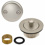 Lift And Turn Bathtub Replacement Tub Drain Overflow Cover Kit In Satin Nickel
