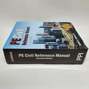 New Ppi Pe Civil Reference Manual 16th Edition - Hardcover - 9781591265702
