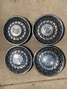 4 Buick Cadillac Fleetwood Wire Spoke Hubcap Wheel Covers 15 Inch And Center Caps