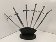 Set Of 6 Lord Of The Rings Swords Letter Opener Stainless Steel
