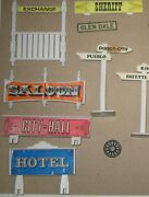 Vintage Lot Of Signs, Fences, From Playsets - Possibly Marx