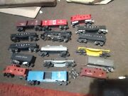 Large Lionel Postwar Huge Lot Of Flat And Freight Vtg Plastic And Metal Train Cars.