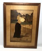 Nelson Hudson River Inlay Wood Marquetry Vintage Dress To Tee Woman Golfer
