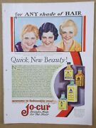 1931 Jo-cur Shampoo/hair Products Magazine Adesther Ralstonpatsy Ruth Miller