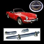 Brand New Triumph Spitfire Mk3 Gt6 Mk2 Stainless Steel Bumpers