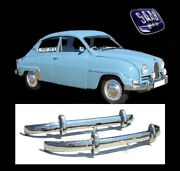 Saab 96 Bullnose Brand New Stainless Steel Bumpers