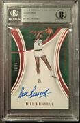 Bill Russell Auto 15-16 Immaculate Collection Signatures Red 16/25 Bgs Authentic