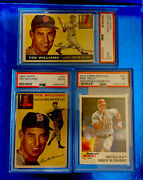 1954-1955 Topps Heritage 250-2 Ted Williams-2013 Mike Trout Rookie Of The Year
