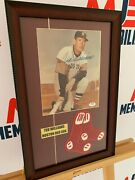 Ted Williams Boston Red Sox Signed Framed Photo With Socks Rare Psa Coa