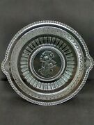 Eapg Richards And Hartley Cupid And Venus Minerva Glass Plate Platter Omn 500