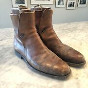 Vintage John Lobb Jodhpur Boots With Shoe Trees Incredible Patina Size 10 - 10.5