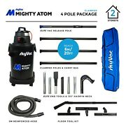 Skyvac Mighty Atom Wet And Dry Gutter Cleaning Vacuum + Clamped Carbon Fibre Poles