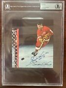 Vintage Signed Gordie Howe Chex Cereal Box Panel Beckett Coa