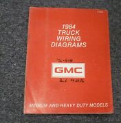 1984 Gmc Astro Heavy Duty Cabover Truck Electrical Wiring Diagrams Manual