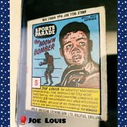 🥊 Joe Louis Anglo American Gum Sports Parade 5 Rare Vintage Boxing Wrapper