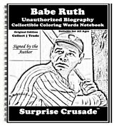 Babe Ruth Baseball Card Sports Trading Card Notebook Author Autographed Oe