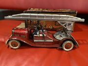 Mettoy Tin Lithograph Fire Engine With Box Purchased From A Museum In England