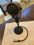 Rare 1930and039s Rca 50-a Inductor Microphone - With Desk Stand