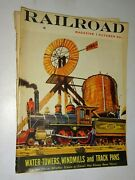 1955 Railroad Magazine October Water Towers, Windmills And Track Pans