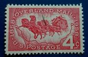 United States1958 Overland Mail 4 C. Rare And Collectible Stamp.